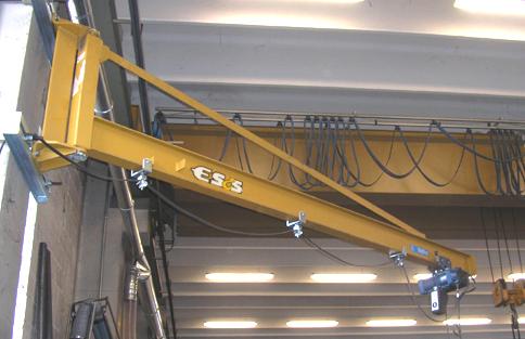 Gru costruzione e manutenzione elettroline sollevamento for Paranco elettrico con supporto a bandiera